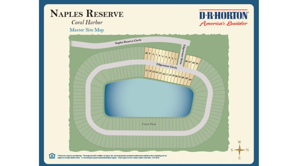 Naples Reserve Lot Map